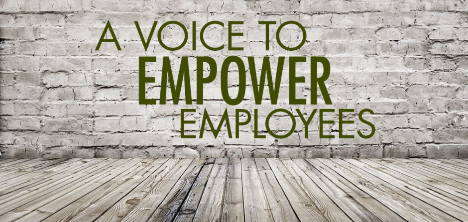 A voice to empower employees